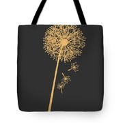 Golden Dandelion Tote Bag