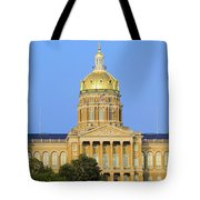 Golden Dome Of Iowa State Capital Tote Bag