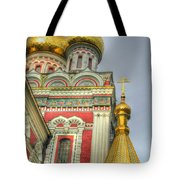 Golden Domes Of Russian Church Tote Bag