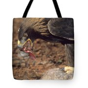 Golden Eagle Eats Tote Bag