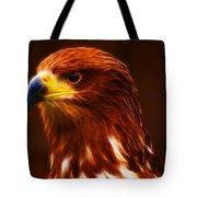 Golden Eagle Eye Fractalius Tote Bag