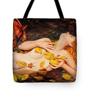 Golden Fall - The River Girl Tote Bag