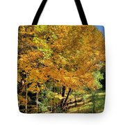 Golden Fenceline Tote Bag