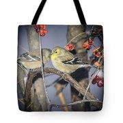 Golden Finch Cold Shoulder Tote Bag