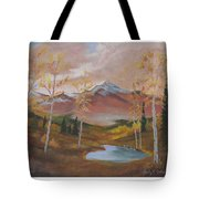 Golden Fire Of Autumn Tote Bag