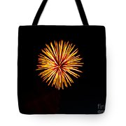 Golden Fireworks Flower Tote Bag