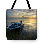 Golden Fishing Hour Tote Bag