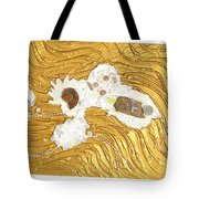 Golden Flow Stream Tote Bag