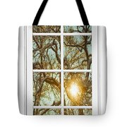 Golden Forest  Branches White 8 Windowpane View Tote Bag