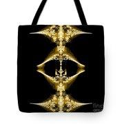 Golden Fractal Tote Bag