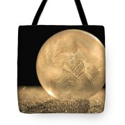Golden Frozen Bubble Tote Bag
