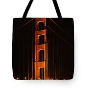 Golden Gate At Night Tote Bag