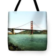 Golden Gate Bridge 2.0 Tote Bag by Michelle Calkins