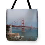 Golden Gate Bridge And Fort Point Tote Bag