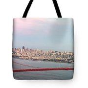 Golden Gate Bridge And San Francisco Skyline Tote Bag