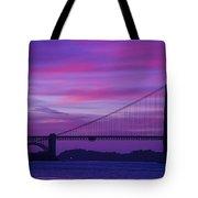 Golden Gate Bridge At Twilight Tote Bag