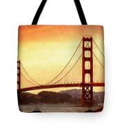 Golden Gate Bridge San Francisco California Tote Bag