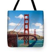 Golden Gate Bridge Tote Bag by Sarit Sotangkur