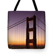 Golden Gate Bridge Sunrise From Marin Tote Bag