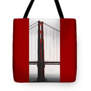 Golden Gate Bridge - Sunset With Bird Tote Bag