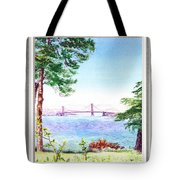 Golden Gate Bridge View Window Tote Bag