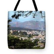 Golden Gate From Buena Vista Park Tote Bag