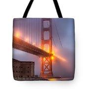 Golden Gate In Fog Tote Bag