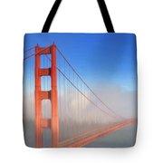 Golden Gate In Morning Fog Tote Bag