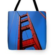 Golden Gate Tower Tote Bag by Rona Black