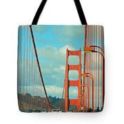 Golden Gate Walkway Tote Bag
