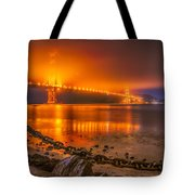 Golden Golden Gate Bridge  Tote Bag