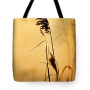 Golden Grain Silhouette Tote Bag