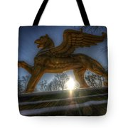 Golden Griffin Tote Bag