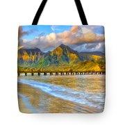 Golden Hanalei Morning Tote Bag