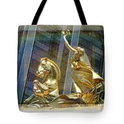Golden Horse In The City Tote Bag