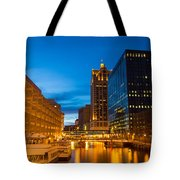 Golden Hour Milwaukee River Tote Bag
