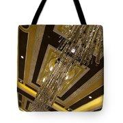 Golden Jewels And Gems - Sparkling Crystal Chandeliers  Tote Bag