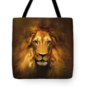 Golden King Lion Tote Bag