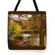 Golden Lake At Botanical Gardens Tote Bag
