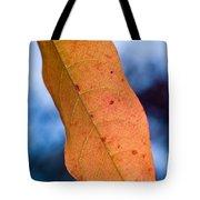 Golden Lanceolate Leaf Tote Bag