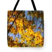 Golden Leaf Cascade Tote Bag