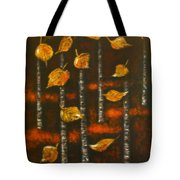 Golden Leaves 1 Tote Bag by Elena  Constantinescu