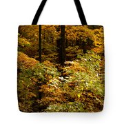 Golden Leaves In Autumn Tote Bag