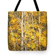 Golden Leaves In Autumn Abstract Tote Bag