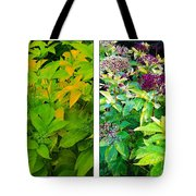 Golden Leaves To Purple Seeds Tote Bag