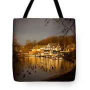 Golden Light At Boathouse Row Tote Bag