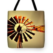 Golden Light Windmill Tote Bag by Marty Koch