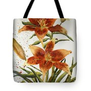 Golden Lilies Tote Bag