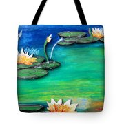 Golden Lillies Tote Bag
