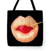 Golden Lips Tote Bag
